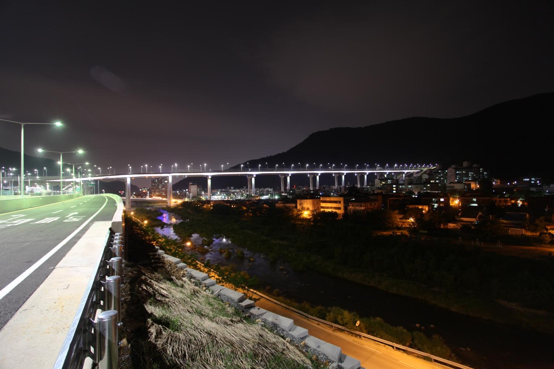 파동고가교(범물터널입구) 야경